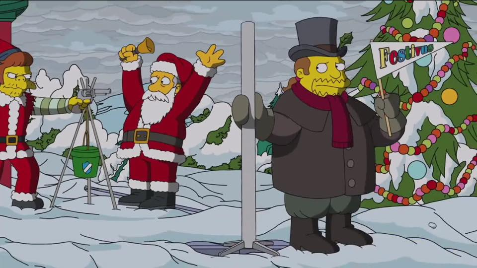 Simpsons Christmas.The Simpsons Christmas Couch Gag Complete With A Festivus