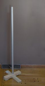 A Festivus Pole.  Unadorned and uncommercial.