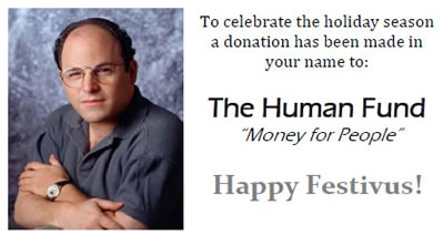 The human fund festivusweb seinfeld festivus each download is a pdf of an 85 x 11 sheet of 10 cards just print them out on avery business card perforated stock or plain card stock m4hsunfo
